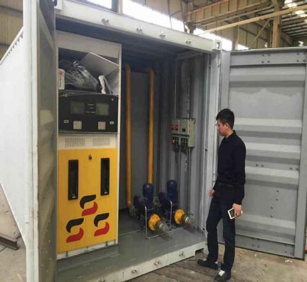 出口洛比托20尺柜移动式加油站